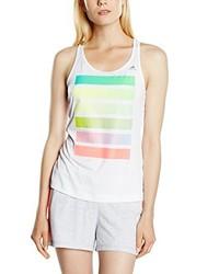 Camiseta sin manga estampada blanca de adidas