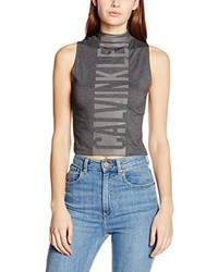 Camiseta sin Manga Gris de Calvin Klein Jeans