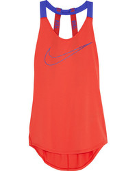 Camiseta sin manga naranja de Nike