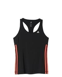 Camiseta sin manga negra de adidas