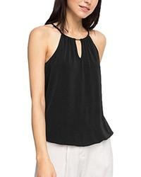 Camiseta sin manga negra de ESPRIT Collection