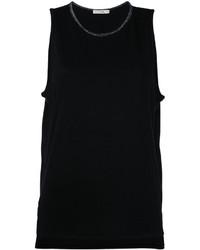 Camiseta sin manga negra de Rag & Bone