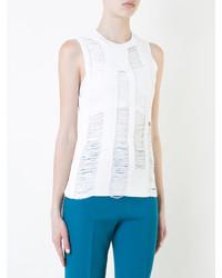 Camiseta sin manga сon flecos blanca de Joseph