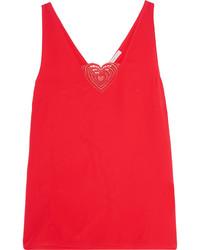 Camiseta sin manga roja de Christopher Kane
