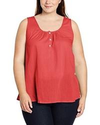 Camiseta sin manga roja de Zizzi
