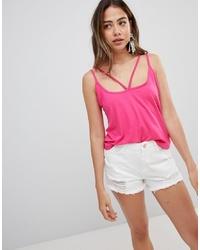 Camiseta sin manga rosa de Missguided