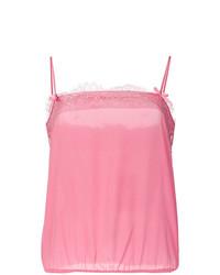 Camiseta sin manga rosada de Twin-Set