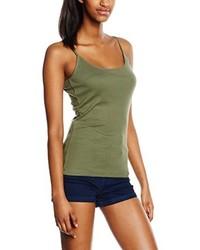 Camiseta sin manga verde oliva de New Look