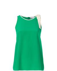 Camiseta sin manga verde de RED Valentino