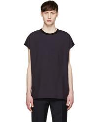 Camiseta sin mangas azul marino de Lanvin