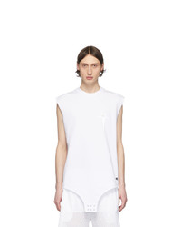 Camiseta sin mangas blanca de Rick Owens