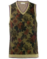 Camiseta sin mangas con print de flores verde oliva de Etro