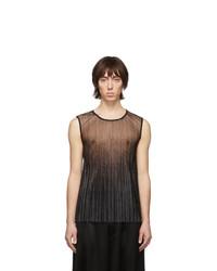 Camiseta sin mangas de malla estampada negra de Palomo Spain