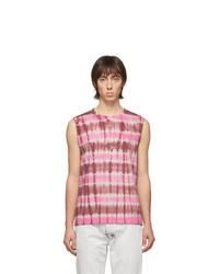 Camiseta sin mangas efecto teñido anudado rosada de Isabel Marant