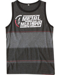 Camiseta sin mangas en gris oscuro