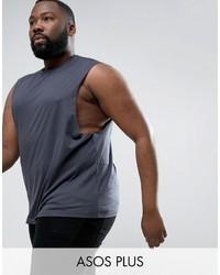 Camiseta sin mangas en gris oscuro de Asos