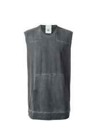 Camiseta sin mangas en gris oscuro de Lost & Found Rooms