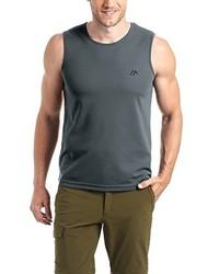 Camiseta sin mangas en gris oscuro de maier sports
