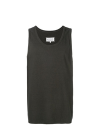 Camiseta sin mangas en gris oscuro de Maison Margiela