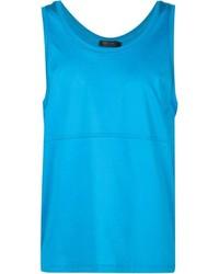 Camiseta sin mangas en turquesa de Calvin Klein Collection