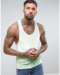 Camiseta sin mangas en verde menta de Asos