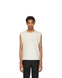 Camiseta sin mangas estampada blanca de Saint Laurent
