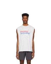 Camiseta sin mangas estampada blanca de Satisfy