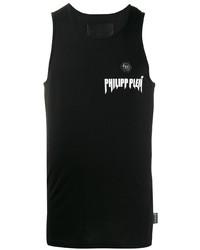 Camiseta sin mangas estampada en negro y blanco de Philipp Plein