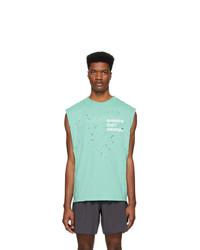 Camiseta sin mangas estampada en verde menta de Satisfy