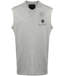 Camiseta sin mangas estampada gris de Philipp Plein