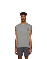 Camiseta sin mangas estampada gris de Satisfy