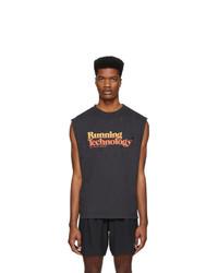 Camiseta sin mangas estampada negra de Satisfy