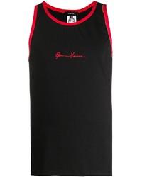 Camiseta sin mangas estampada negra de Versace