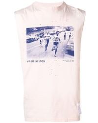 Camiseta sin mangas estampada rosada de Satisfy