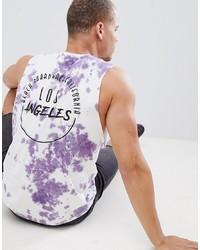 Camiseta sin mangas estampada violeta claro de Urban Threads