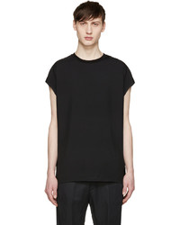 Camiseta sin mangas negra de Lanvin