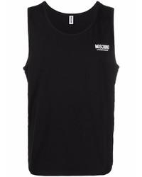 Camiseta sin mangas negra de Moschino