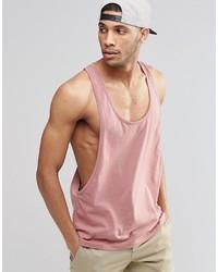 Camiseta sin mangas rosada de Asos