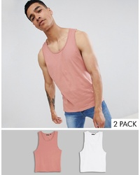 Camiseta sin mangas rosada de Brave Soul