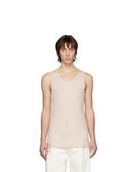 Camiseta sin mangas rosada de Lemaire