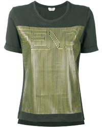 Camiseta verde oliva de Fendi