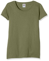 Camiseta Verde Oliva de Fruit of the Loom