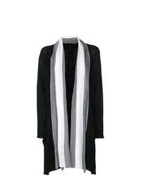 Cardigan abierto en negro y blanco original 9275308