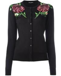 Cárdigan bordado negro de Dolce & Gabbana