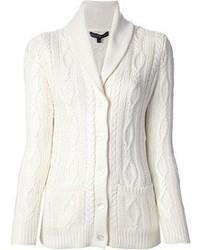 Cardigan con cuello chal blanco original 2473863