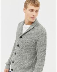 Cárdigan con cuello chal gris de Burton Menswear