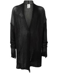 Cárdigan con cuello chal negro
