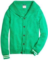 Cárdigan con cuello chal verde