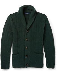 Cárdigan con cuello chal verde oscuro de Polo Ralph Lauren