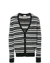 Cárdigan de rayas horizontales en negro y blanco